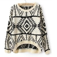 Geometric Knit Sweater (4 colors)