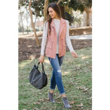 Go Everywhere Dusty Rose Vest