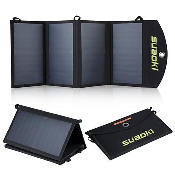 Suaoki Portable 25W Folding Solar Panel Charger   iPhone and Android Compatible