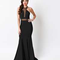 Black Sexy Mermaid Long Dress 2016 Prom Dresses