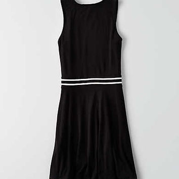 AEO Keyhole Shift Dress , True Black