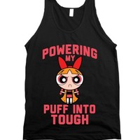 Powering My Puff Into Tough-Unisex Black Tank