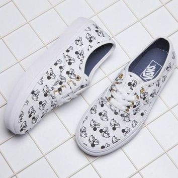 CREYON VANS X Disney Mickey Mouse Canvas Old Skool Flats Sneakers Sport Shoes