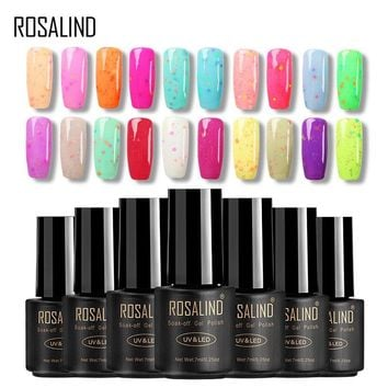 ROSALIND Gel 1S 7ML Sea Bule Cheese Gel nail polish UV LED semi permanent Soak Off Hybrid Gel Varnishes for Nail Art