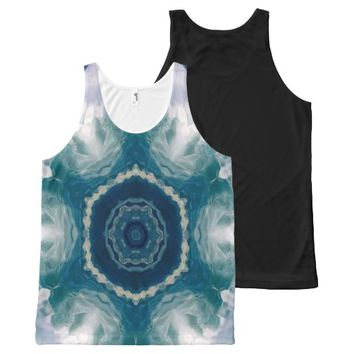 Kaleidoscope Flowers All-Over Print Tank Top