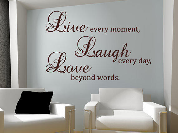 Live Laugh Love Wall Decal Vinyl Sticker From Happy Wallz Wall