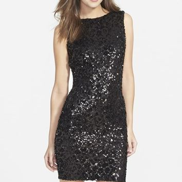 Women's Dress the Population 'Kim' Sequin Body-Con Dress,