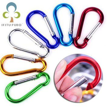 DCCK7N3 20Pcs/set Colorful Aluminum Spring Carabiner Snap Hook Hanger Keychain Travel Kit for Camping Hiking #4 #5 #6 GYH