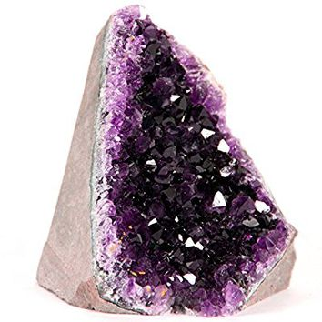 Best AMETHYST Cluster – 1/2 to 1 lb. Feel the glow of this breathtaking deep purple crystal in your own personal space. Offered exclusively by Superior Specimens. Plus, BONUS Selenite wand!