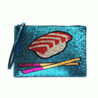 Sushi and chopsticks hand bag Clutch