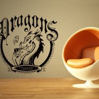 Wall Decals Dragons Sign Decal Vinyl Sticker Decal Home Decor Bedroom Interior Window Decals Living Room Art Murals Chu1391