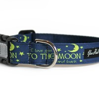 I Love You to the Moon and Back Dog Collar