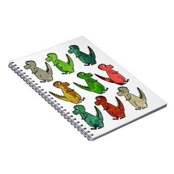 Colored Dinosaurs Notebook
