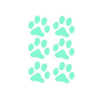 6pcs Cute Paw Print Night Luminous Stickers Glow in the Dark Wall Decals Removable Pawprint Stickers for Baby Nursery Kids Room Wall Decor 8.5x8.5cm