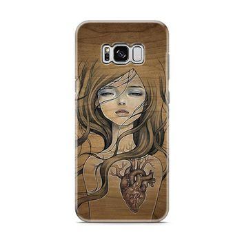 Wood Art Girl Samsung Galaxy S8 | Galaxy S8 Plus case
