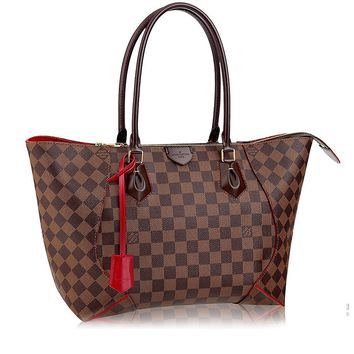 Authentic Louis Vuitton Damier Caissa Tote MM Handbag Article:N41548 Made in France