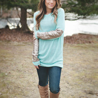 Sparkle & Shine Sweater (Mint)
