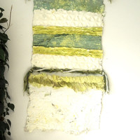 Modern Paper Wall Hanging, Contemporary Art, Handmade Paper Art Work, Boho Fiber Art, Green Textile Art, Eco Chic Textured Art, Modern Decor