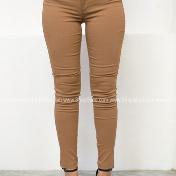 Skinny Stretch Jeggings | Mustard