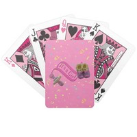 It's a Girl Pacifier Shoes Bicycle Playing Cards