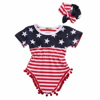 2pcs Newborn Infant Baby Romper Outfits