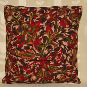 """Multicolour Pillow Cover/Cushion Cover/Rust Brown Euro Sham Cover/16""""x16""""/Round Pillow/Accent Pillow/Oblong pillow inches/18*18/20*20 inches"""