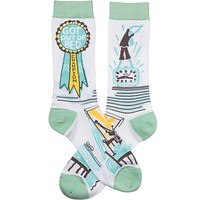 Got Out Of Bed Champion Award Socks in Turquoise and Mint