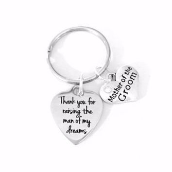 Mother Of The Groom Thank You For Raising The Man In Law Wedding Gift Keychain