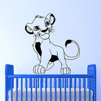 Wall Decals King Lion Little Animal Cartoon Nursery Room Vinyl Sticker Decor O23