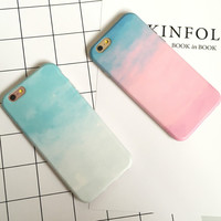 Gradient Tie-dyed iPhone 7 7Plus & iPhone 6s 6 Plus Case Best Protection Cover +Gift Box-524