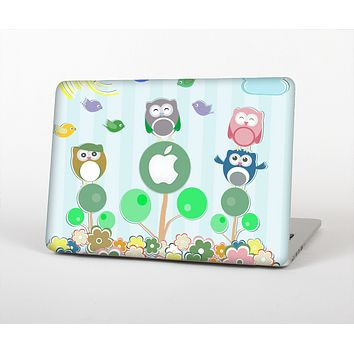 The Colorful Emotional Cartoon Owls in the Trees Skin for the Apple MacBook Pro Retina 13""