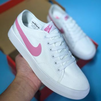 DCCK N386 Nike Primo Court Canvas Skate Shoe White Pink