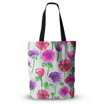 "Anneline Sophia ""Anemones"" Pink Flowers Everything Tote Bag"