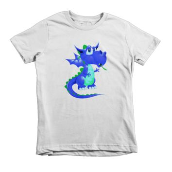 Draco Blue Green Short sleeve kids t-shirt