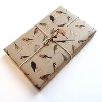 garden birds gift wrap set 100 recycled by katebroughton on Etsy