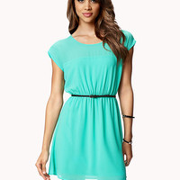 Keyhole Georgette Dress