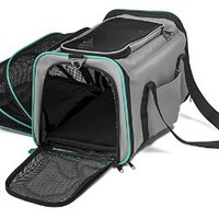 Pawdle Expandable and Foldable Pet Carrier Domestic Airline Approved (Heather Gray)