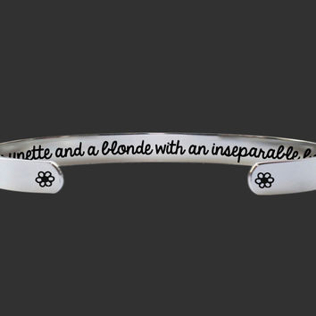 Bridesmaid Gift | Friend Gift | Friend Gift | Best Friend Gift | A brunette and a blonde | Personalized Gift | Korena Loves