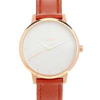 Nixon Kensington Brown Leather Watch - Brown