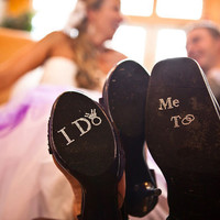 I Do Shoe Crystals with DIAMOND RING & Me Too Groom Stickers for the Bride and Groom.  Perfect Photo Opp