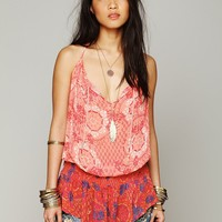 Free People Mix Print Dropwaist Tank