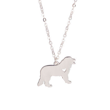 Gold & silver explosion models cute Bernese Mountain Dog necklace animal jewelry necklace dog lovers to the dear friends