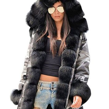 Wild Thoughts Black Faux Fur Lined Army Jacket