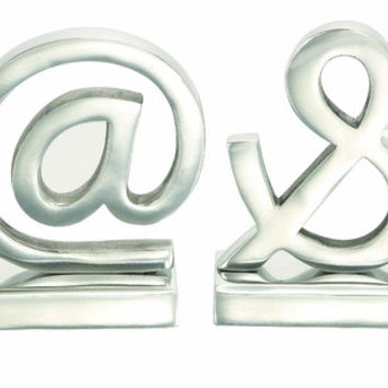 Aluminum Bookend Pair A Class Apart Homedecoration