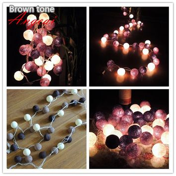 20pcs/sets thai style cotton ball string lights, Party