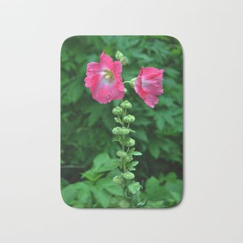 Hollyhock Heaven Bath Mat by Gifts Of Nature