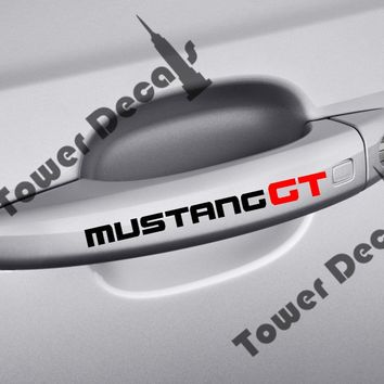 4 MUSTANG GT door handle and interior accessories vinyl decals