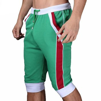 Men Shorts Cotton Beach Boxer Sexy Wear Baseball Jogger Loose Shorts Drawstring Short Pants Trousers