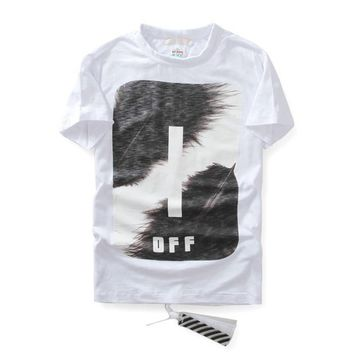 hcxx Off-White Feather Ink T-Shirt