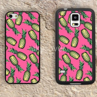 Cartoon Pineapple case  iphone 4 4s iphone  5 5s iphone 5c case samsung galaxy s3 s4 case s5 galaxy note2 note3 case cover skin 084